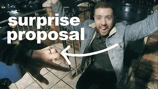 Man Surprises Boyfriend by Traveling Over 5,000 Miles and Proposing on His Doorstep - Video