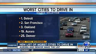 New list of worst cities to drive in - Video