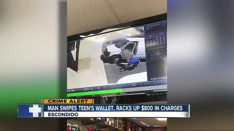 Man picks up teen's dropped wallet, later racks up charges