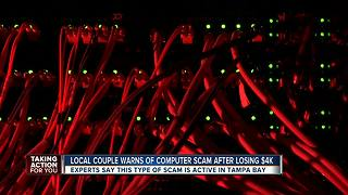 Local couple warns of computer scam after losing $4k - Video