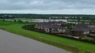 Aerial Footage Captures Scale of Flooding Near Brazos River, Texas - Video