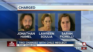 Three arrested in child neglect investigation in Charlotte County