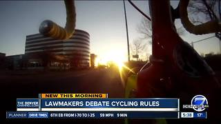 Lawmakers to look at cycling rules - Video