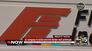 Company with offices in Tempe among 4 chosen for border wall prototype - Video