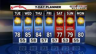 13 First Alert Weather for October 10 2017 - Video