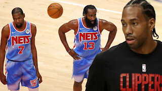 Kawhi Leonard Has A Savage Response When Asked About Playing Against Kevin Durant, Kyrie & Harden