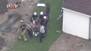 One man pulled from collapsed trench in Chesterfield Township - Video