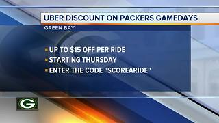 Uber and Miller Lite offering discounts on Packers gameday rides - Video