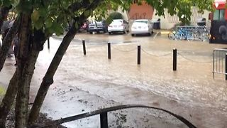 Heavy Rains Trigger Flooding in Lafayette - Video