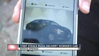 Pizza Driver Reports Stolen car - Video