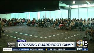 Crossing guards go through boot camp in preparation for school year
