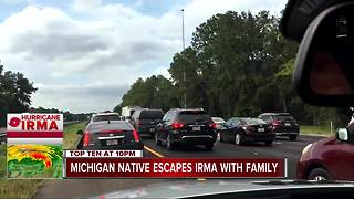 Metro Detroit family travels 48 hours to escape Hurricane Irma - Video