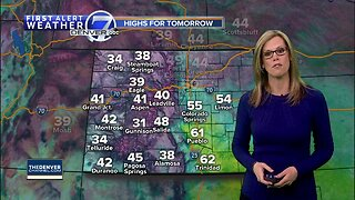 Sunday evening forecast