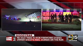 Fireworks stand owner shoots armed robber