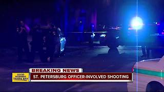 Armed carjacking suspect dies after shootout with St. Petersburg Police officers - Video