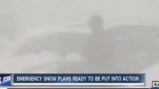 Emergency coordinators putting snow plans into action - Video