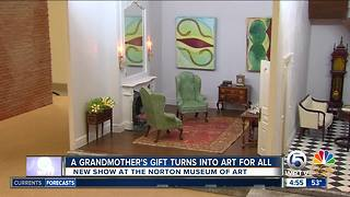 Grandmother's gift turns into art for all - Video