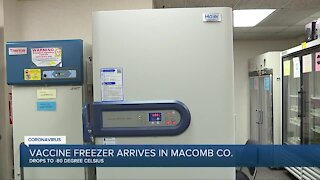 Vaccine freezer arrives in Macomb County