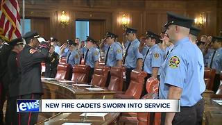 Over 3 dozen Cleveland fire cadets graduate Friday - Video