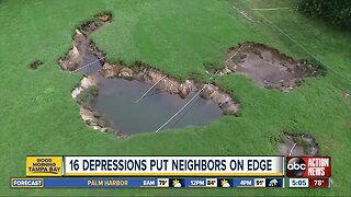 At least 16 depressions open up in Pasco County community