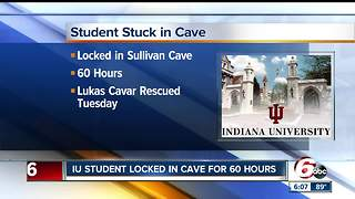 Student licked moisture off walls while trapped inside cave for three days - Video