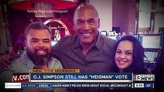 O.J. Simpson will vote on next Heisman Trophy winner - Video