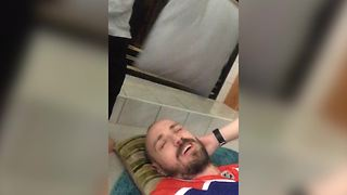 Funny Little Boy Hits His Dad With Pillows - Video
