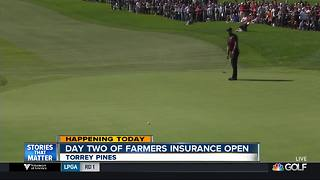 Torrey Pines hosts second day of Famers Insurance Open - Video