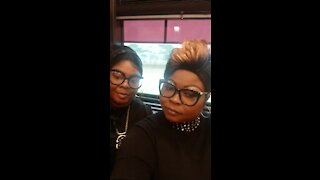 Diamond and Silk check-in.... WFT Bus Tour.......