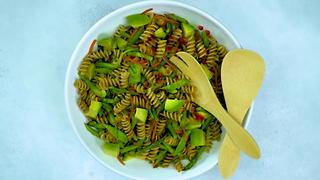 Asian-Inspired Pasta Salad with Asparagus, Snow Peas, and Avocado - Video