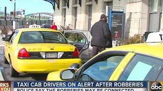 Cab drivers on high alert after thieves target cabbies in Baltimore