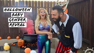 Fantastic Halloween themed baby gender reveal