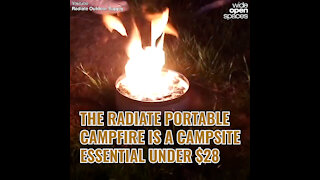 THE RADIATE PORTABLE CAMPFIRE IS A CAMPSITE ESSENTIAL UNDER $28