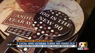 WWII veteran celebrating his 100th birthday: 'Have a positive attitude and enjoy life' - Video