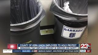 County of Kern union members protest working conditions - Video