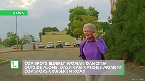 Cop Spots Elderly Woman Dancing Outside Alone. Dash Cam Catches Moment Cop Stops Cruiser in Road