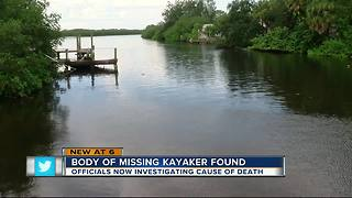 Body of missing kayaker found