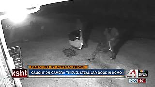 WATCH: Thieves steal door off car in Kansas City - Video