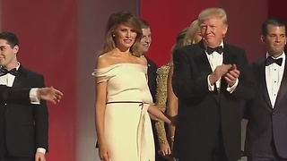 President Donald Trump dances at Liberty Inaugural Ball
