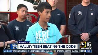 Phoenix teen thanks firefighters, nurses for saving life