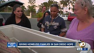 Hope for homeless families in San Diego - Video