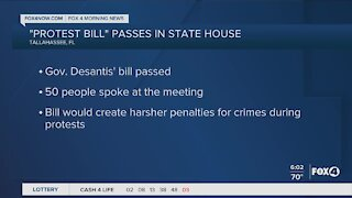 Protest bill passed in State House