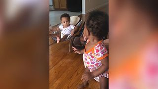 Adventurous Baby Tries To Break Free - Video