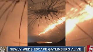 Couple Escapes Gatlinburg Fire During Their Honeymoon - Video