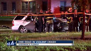 1 dead, 1 injured after car crashes into tree on Milwaukee's north side - Video