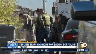 Detectives enter Perris home where children were rescued - Video