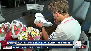 Local tennis star starts shoe business - Video