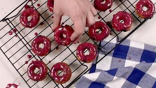 Blueberry Mini Donuts - Video