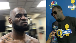 "LeBron James ROASTS Draymond Over ""Quickie"" Shirt, Green Fires Back at LeBron's New ""Bald"" Head - Video"