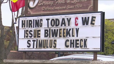 The Abbey says it's been hard to hire as they compete against stimulus money and unemployment checks